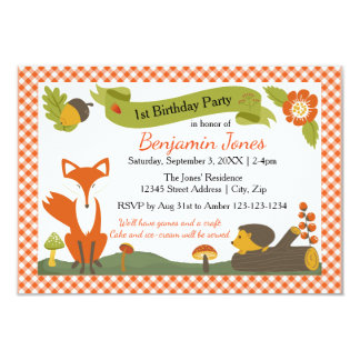 Woodland Scene - 3x5 Birthday Party Invitation