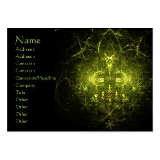 Woodland Spirit. Green & Black Fractal. Large Business Cards (Pack Of 100)