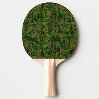 Woodland Style Digital Camouflage Ping-Pong Paddle