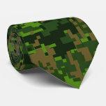 Woodland Style Digital Camouflage Tie