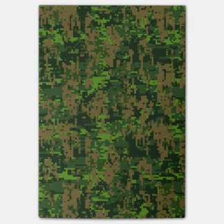 Woodland Style Digital Green Camouflage Decor Post-it Notes