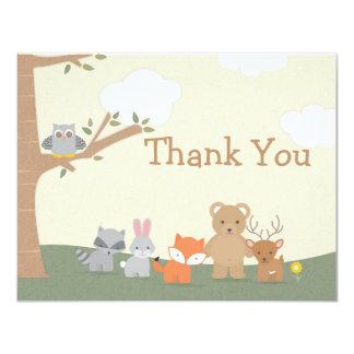 "Woodland ""Thank You"" Card"