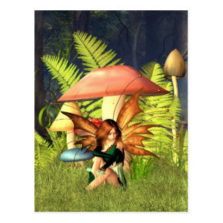 Woodland Toadstool Fairy Postcard