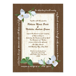 Woodland Trillium Wedding Card