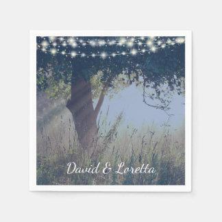 Woodland Twilight Fairy Lights Napkins Paper Napkins
