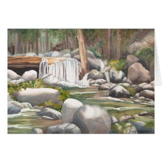 Woodland Waterfall Blank Card