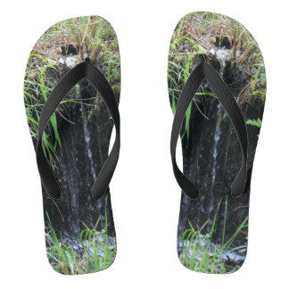 Woodland Waterfall Flip Flops