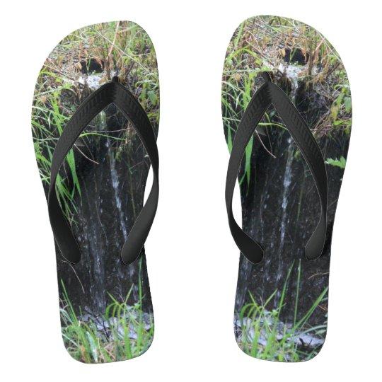 Woodland Waterfall Flip Flops