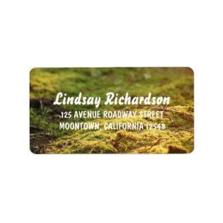 woodland wedding address labels