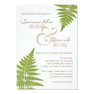 Woodland Wedding Fern Invitation