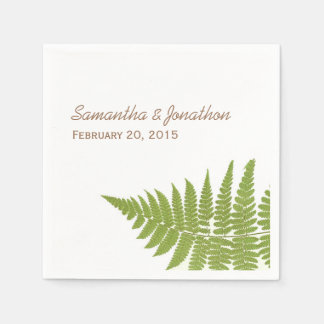 Woodland Wedding Fern Napkins Disposable Napkin