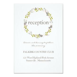 Woodland Wedding Reception Card
