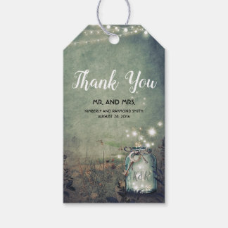Woodland Wedding Rustic Mason Jar Lights Gift Tags