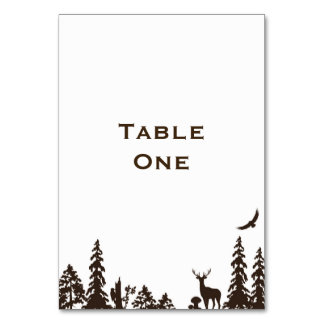 Woodland Wedding Table Name or Number Table Card