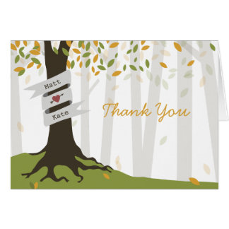 Woodland Wedding Thank You - Early Autumn Note Card