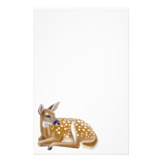 Woodland White Tailed Deer Fawn Stationery