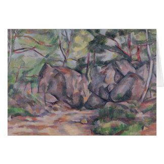 Woodland with Boulders, 1893 Card