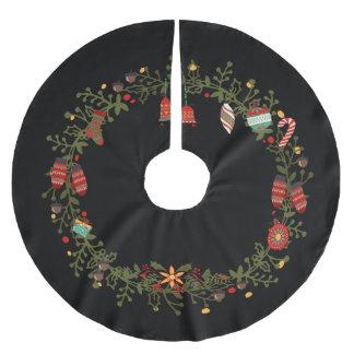 Woodland Wreath Design - Christmas Tree Skirt