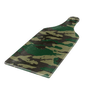 Woodlands camouflage cutting board
