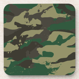 Woodlands camouflage drink coasters
