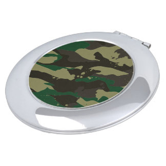 Woodlands camouflage makeup mirror