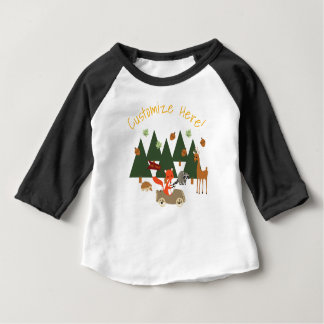 Woodlands forest animals birthday shirt