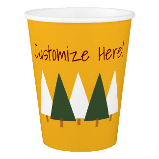 Woodlands forest party paper cups paper cup