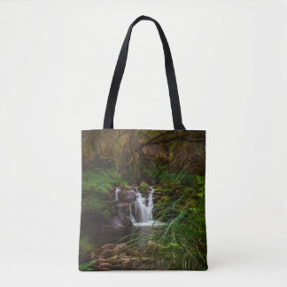 Woodlands Waterfalls Nature Scenery Tote Bag
