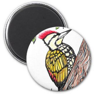 Woodpecker 2 Inch Round Magnet