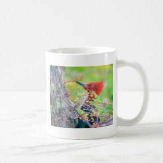 Woodpecker at Forest Pecking Coffee Mug