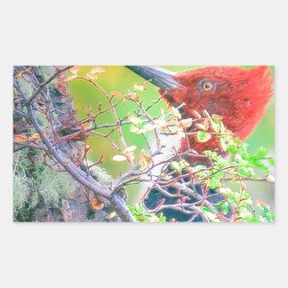 Woodpecker at Forest Pecking Sticker