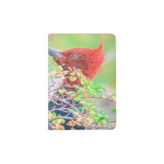 Woodpecker at Forest Pecking Tree Passport Holder