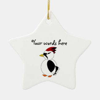 Woodpecker Ceramic Ornament