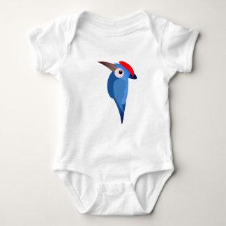 Woodpecker design on Baby jersey suit Baby Bodysuit