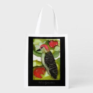 Woodpecker Design Reusable Shopping Bag