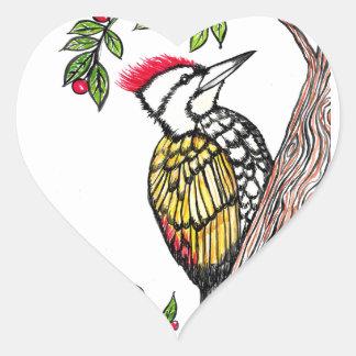 Woodpecker Heart Sticker