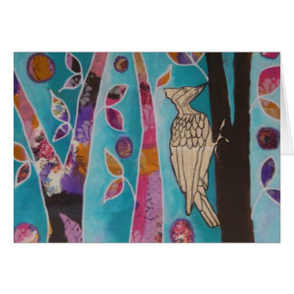 Woodpecker Music Greetings Card