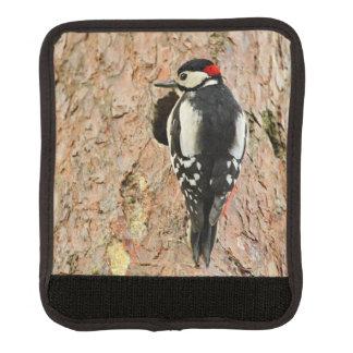 woodpecker on his tree luggage handle wrap