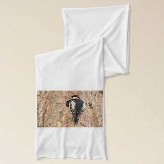 woodpecker on his tree scarf