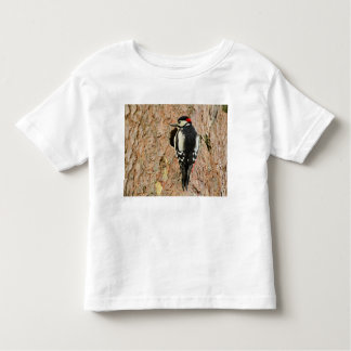 woodpecker on his tree toddler t-shirt