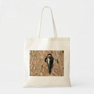 woodpecker on his tree tote bag