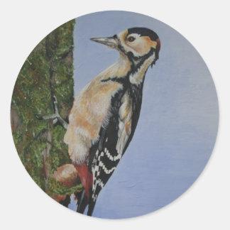 Woodpecker Products Round Sticker