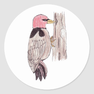 Woodpecker Round Sticker