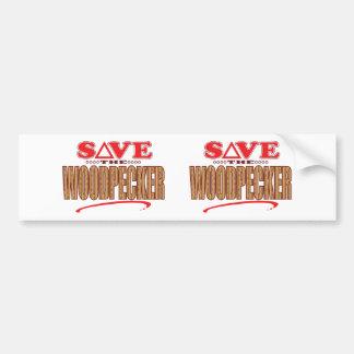 Woodpecker Save Bumper Sticker