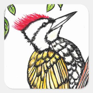 Woodpecker Square Sticker