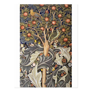 Woodpecker Tapestry by William Morris Postcard