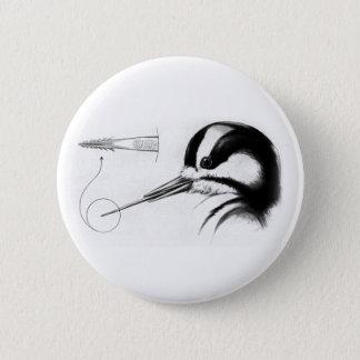 Woodpecker Tongue Anatomy 2 Inch Round Button