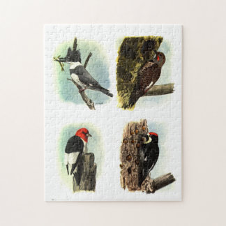 """Woodpeckers 11"""" x 14"""" Puzzle with Gift Box"""