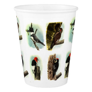 Woodpeckers Paper Cup, 9 oz Paper Cup