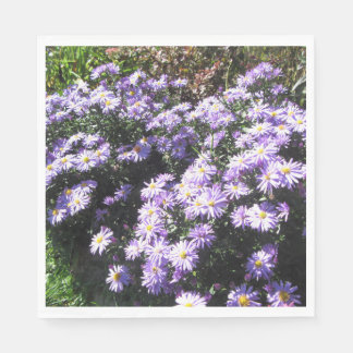 Woods Blue Fall Asters Paper Napkin